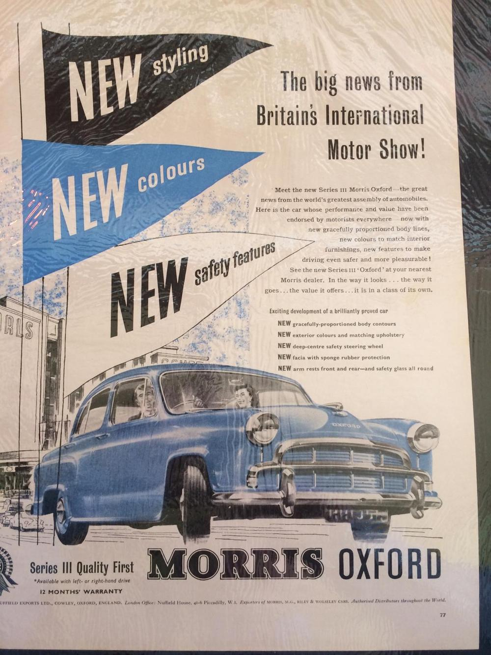 Plaatjes Morris Oxford