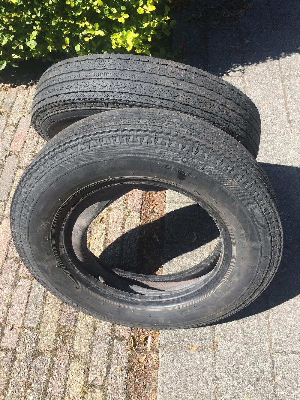 Te koop Dunlop 75 Crossply banden